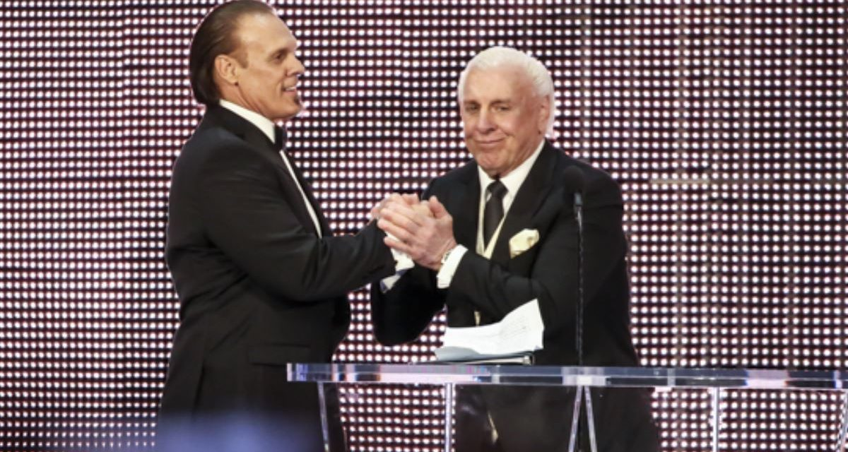 Sting & Flair create another moment at 2016 WWE Hall of Fame Ceremony