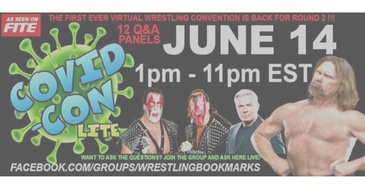 Wrestling Bookmarks Covid-Con gets a sequel on June 14