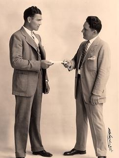 Jack Dempsey and Billy Sandow in a publicity photo.
