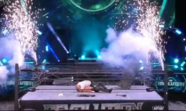 Bloody, brutal AEW Revolution main event undone by faulty fireworks