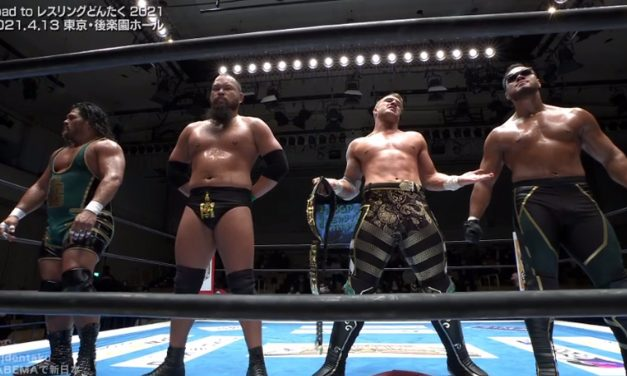The Empire rules LIJ at Road to Wrestling Dontaku