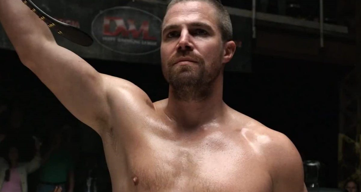 Stephen Amell's worlds collide on 'Heels'